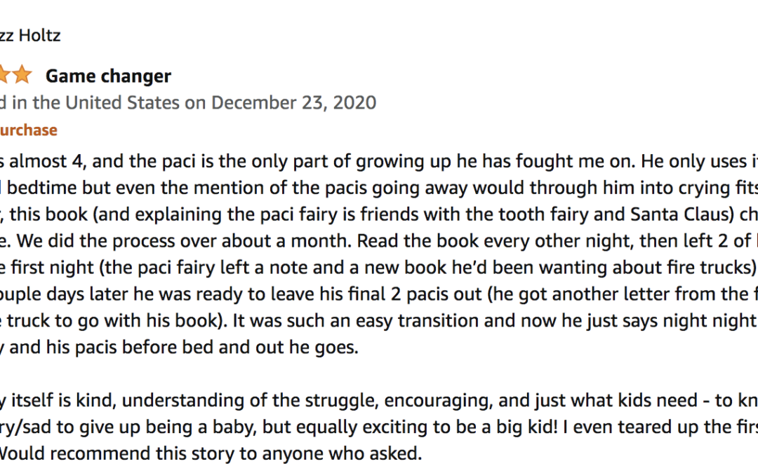 """Pacita the Pacifier Fairy:  """"Game changer"""""""